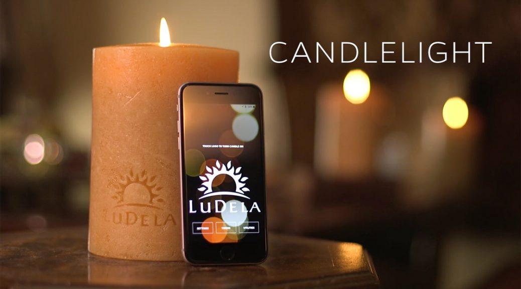 Controle la llama real de esta vela inteligente con su smartphone