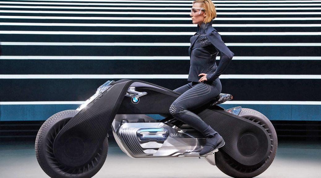 La motocicleta del futuro de BMW no requiere casco