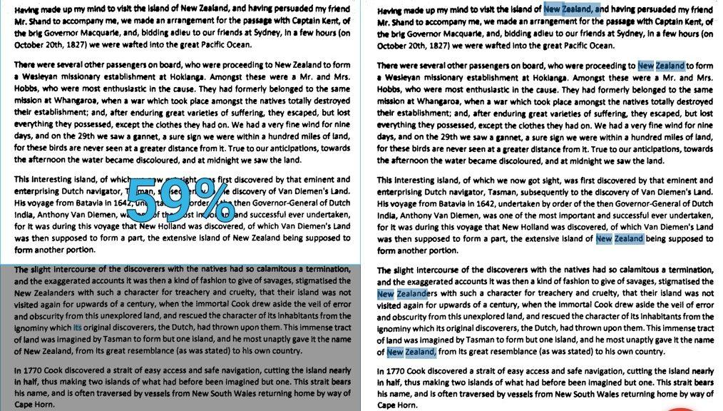 Búsqueda de palabras en textos impresos, gratis para Android