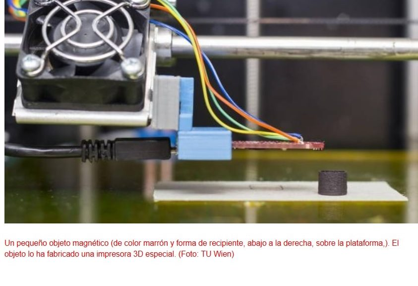 Imanes fabricados por impresión 3D