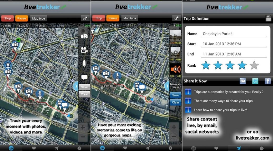 Comparta sus viajes con un mapa multimedia, gratis para Android, iPhone, iPad