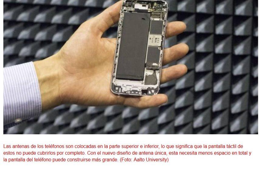Nueva antena multiuso para teléfonos móviles