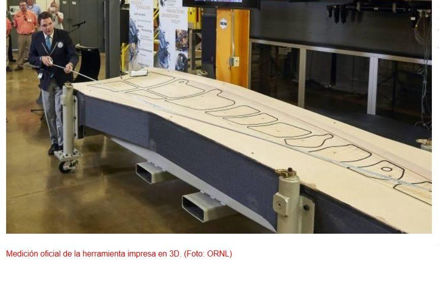 Récord Guinness para la herramienta más grande fabricada mediante impresión 3D