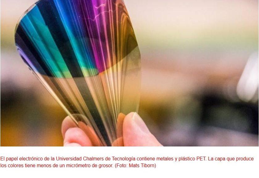 Papel electrónico flexible y a todo color