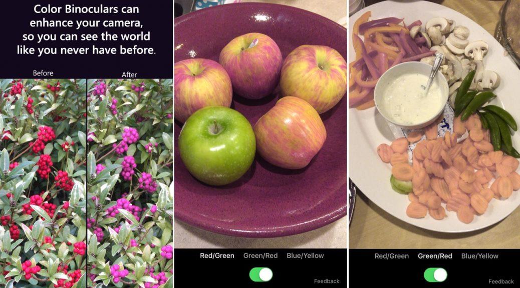 La «app» de Microsoft para que los daltónicos puedan ver los colores tal y como son, gratis para iPhone, iPad