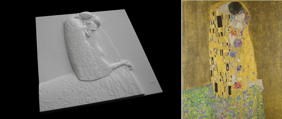 El museo Belvedere presenta El Beso de Gustav Klimt en 3D