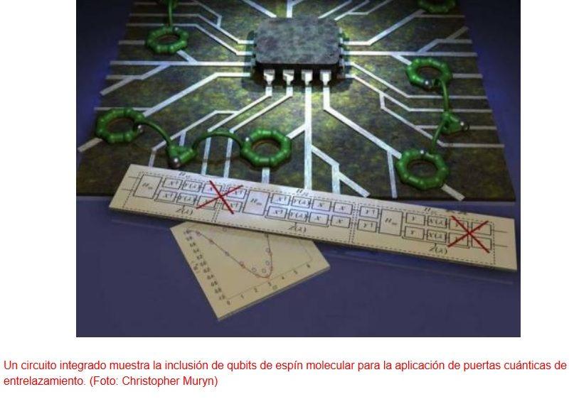 Es factible usar como bits cuánticos a moléculas complejas