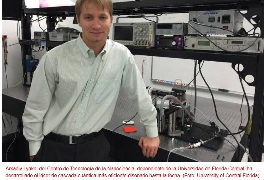 Crean el láser de cascada cuántica más eficiente del mundo