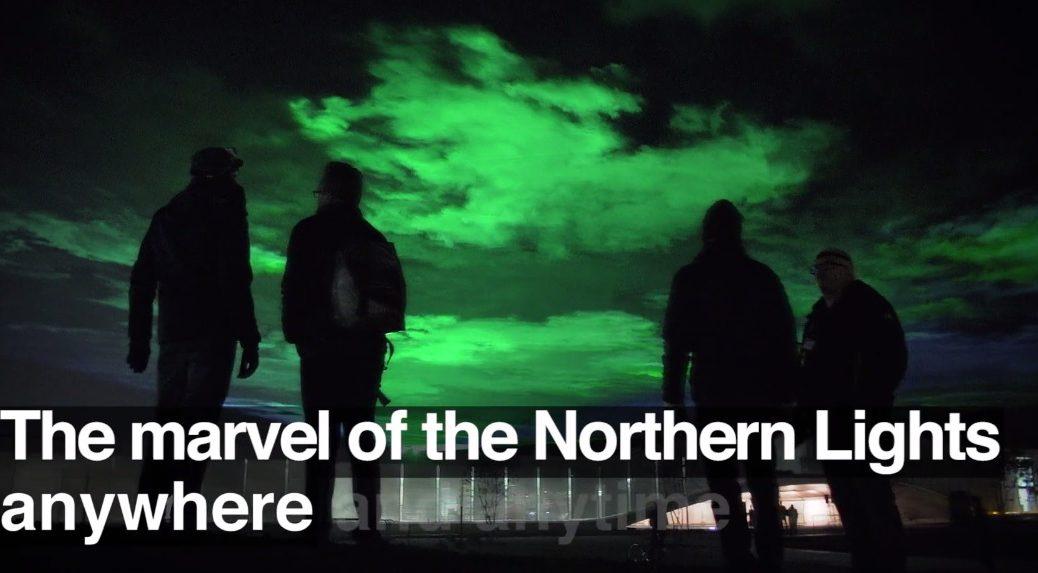 Auroras boreales en cualquier lugar y momento