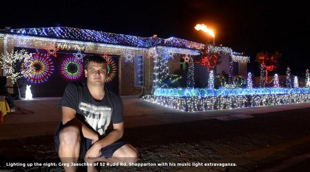 Luces navideñas sincronizadas con Thunderstruck de AC/DC