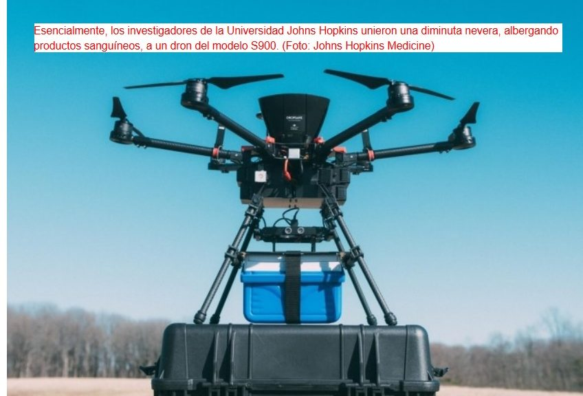 Drones para transporte urgente de sangre destinada a transfusiones