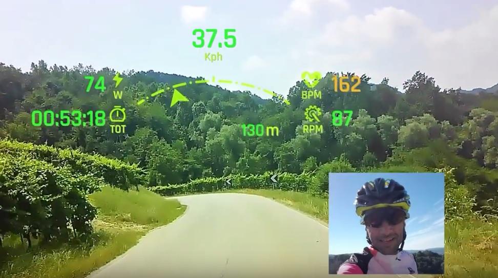 Gafas de ciclismo muestran datos sin bloquear su vista
