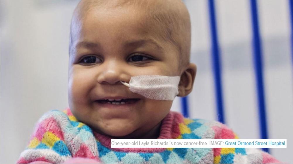 Una terapia innovadora de edición de genes eliminó el cáncer en dos bebés
