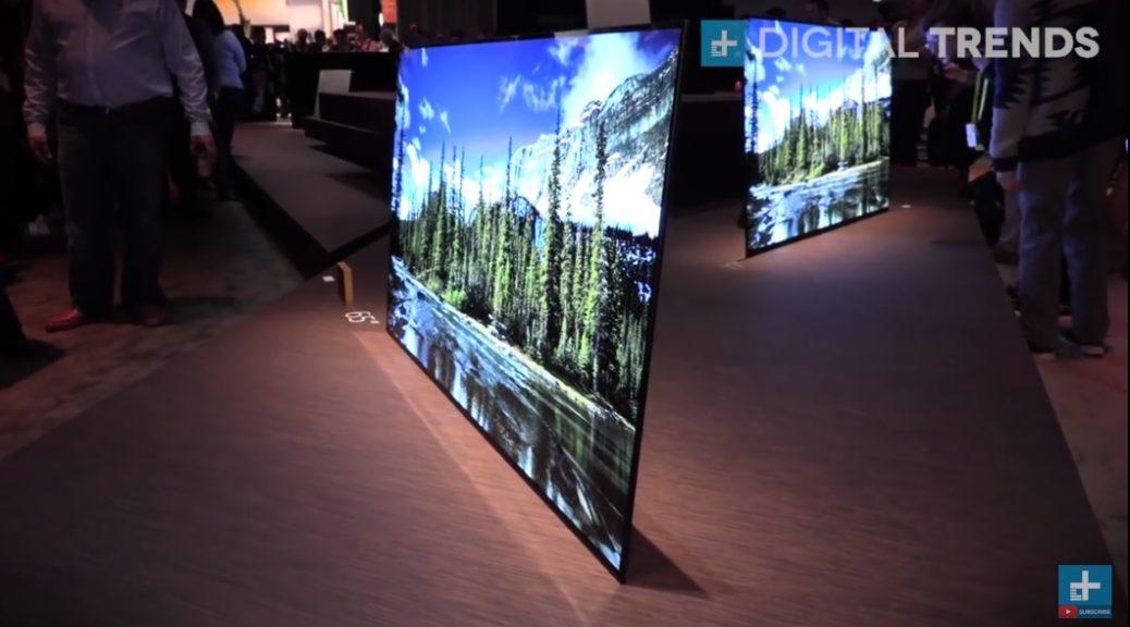 Sony fusiona la pantalla con los altavoces en un televisor OLED