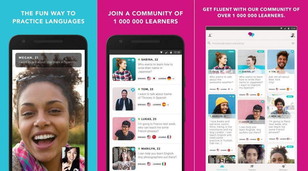 Practique nuevos idiomas conversando con hablantes nativos, gratis para Android, iPhone, iPad