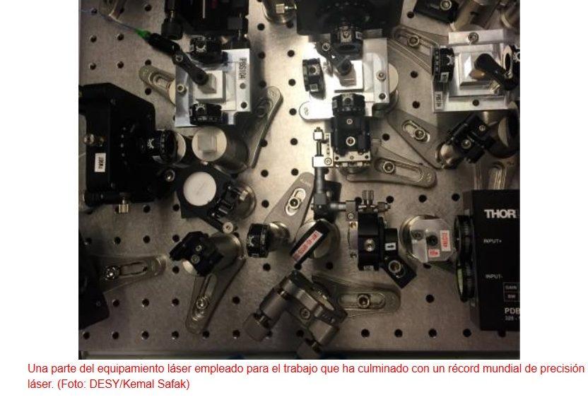 Récord mundial de precisión láser