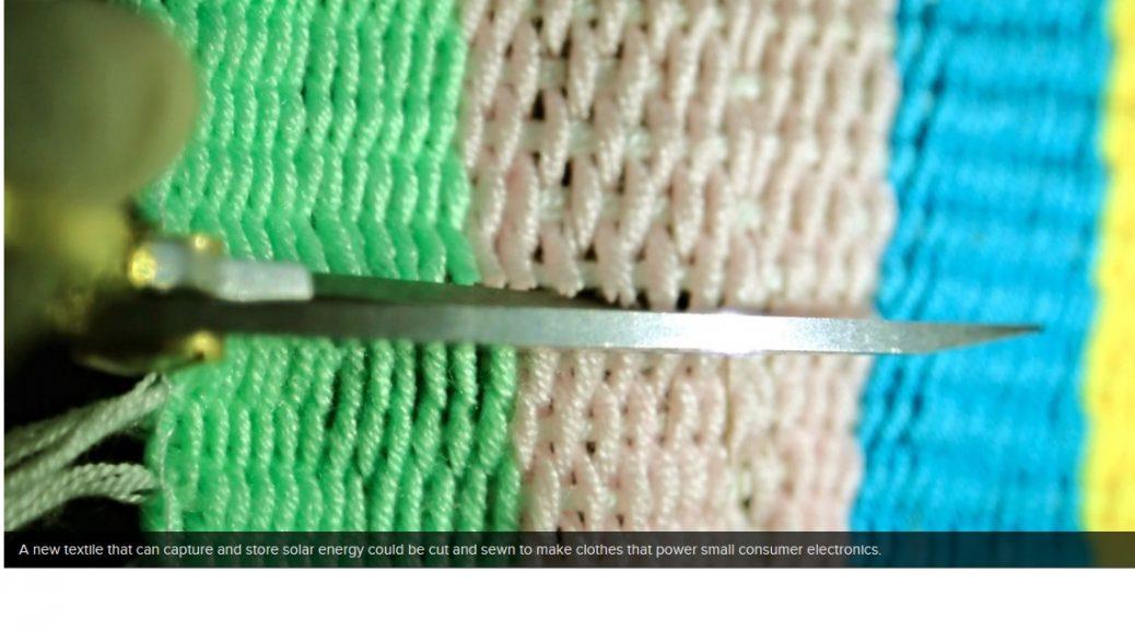 Nuevos textiles inteligentes pueden producir y almacenar energía solar