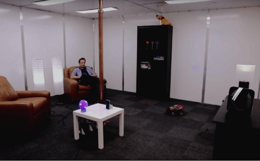 Trabajan en habitaciones que cargarán de forma inalámbrica dispositivos electrónicos