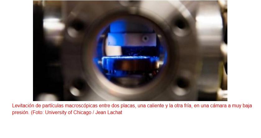 Levitación duradera y estable de objetos mediante termoforesis