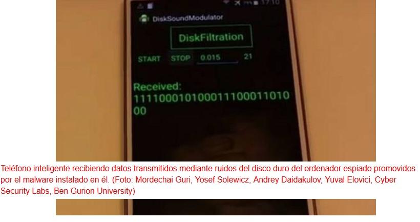 Malware capaz de hacer que disco duro transmita información mediante su ruido o sus luces LED