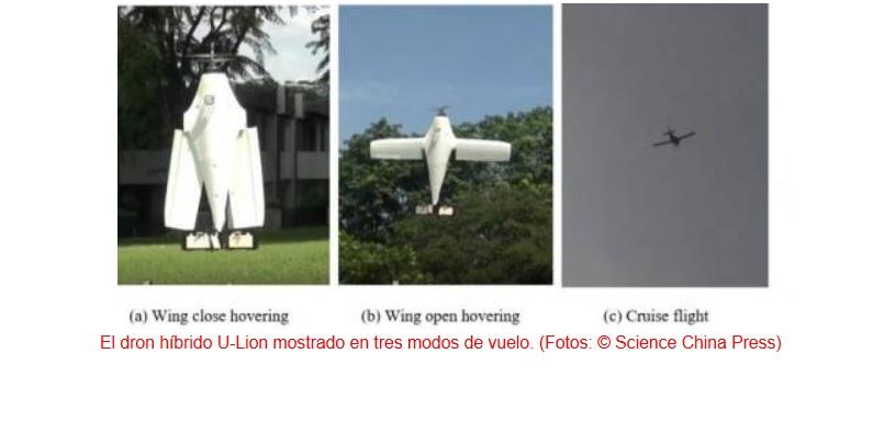 Dron que puede alternar su forma entre la de un avión y la de un helicóptero