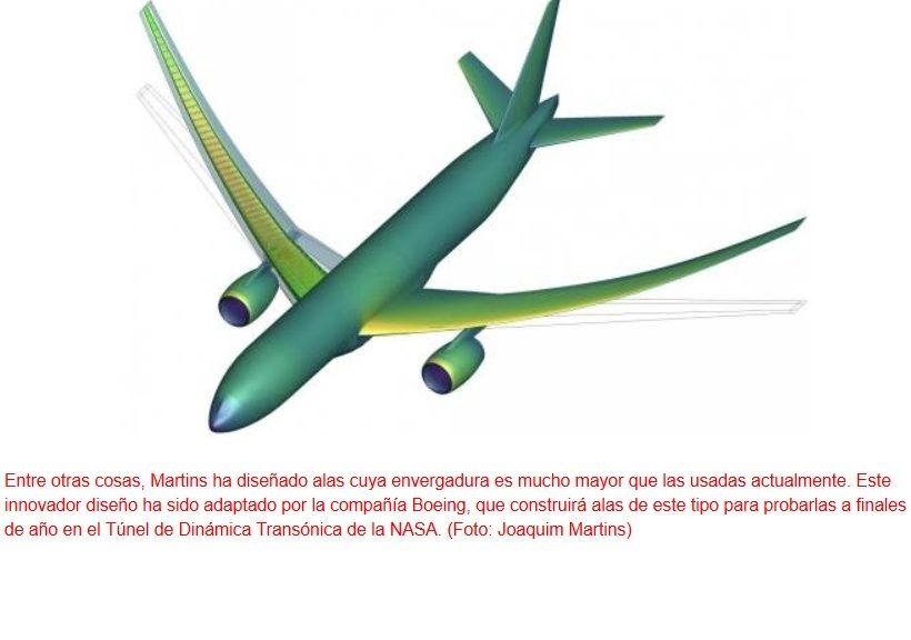 Diseñan aviones futuros con menor consumo de combustible