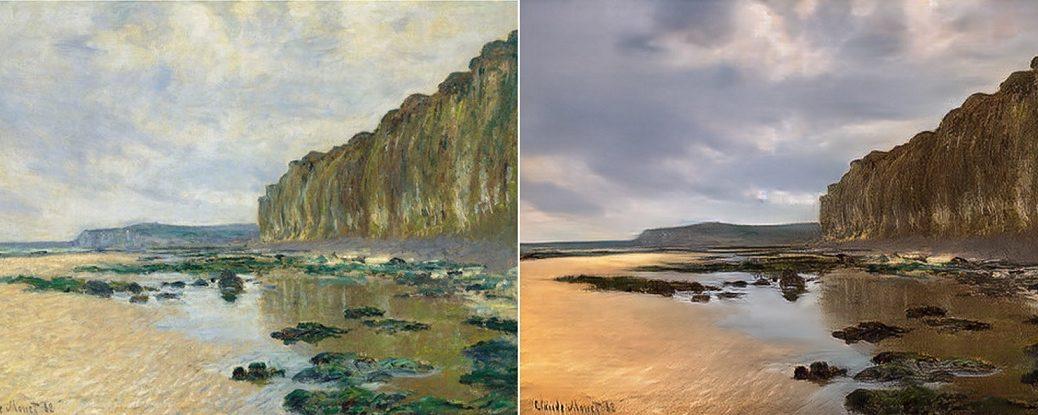 Inteligencia Artificial convierte pinturas impresionistas en fotos realistas