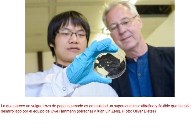 Material superconductor elástico y ultrafino