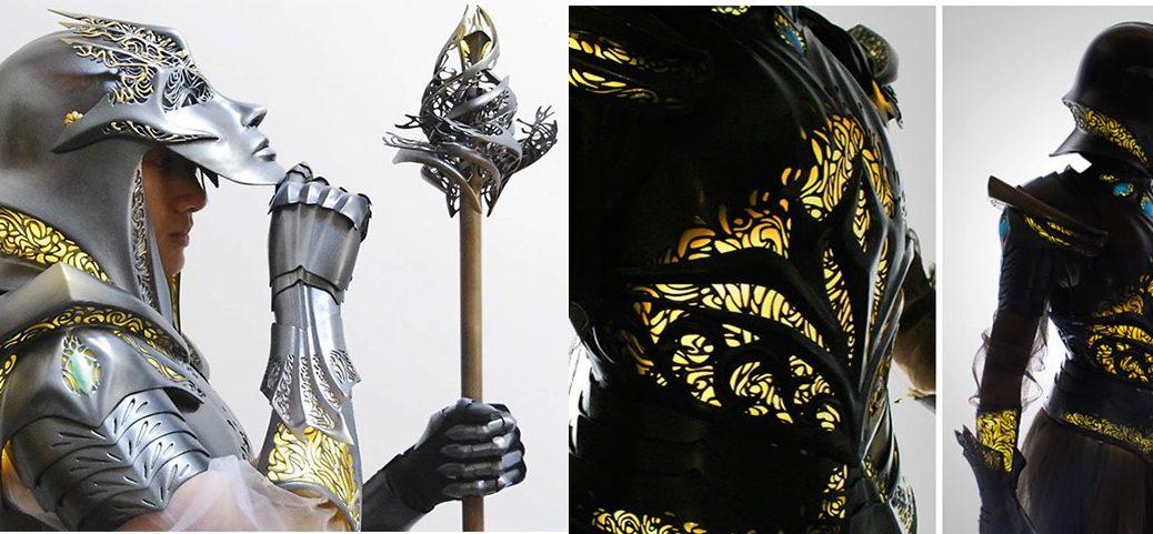 518 horas para crear una armadura 3D futurista