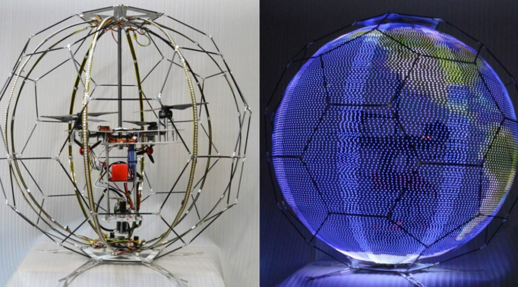 Drones ahora como deslumbrantes pantallas esféricas voladoras