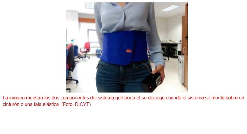 Un guante y una faja abdominal vibrotáctil para ayudar a las personas sordociegas a comunicarse