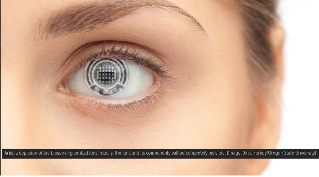 Están desarrollando una lente de contacto que le dice cuando está enfermo