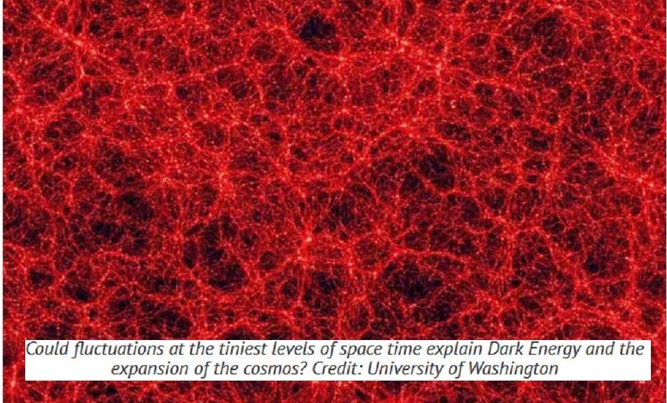 Pequeños saltos en el espacio-tiempo, posible explicación para la energía oscura