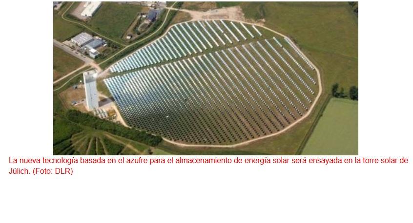 Utilizan azufre para almacenar energía solar