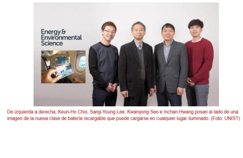 Fuente de alimentación eléctrica portátil energizada por luz