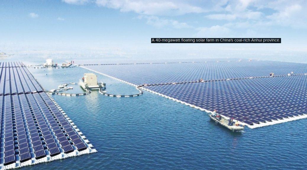 Proyecto gigante de energía solar de China se encuentra sobre una mina de carbón abandonada