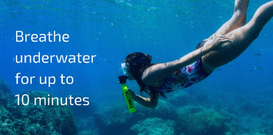 Respire bajo el agua con total libertad durante 10 minutos