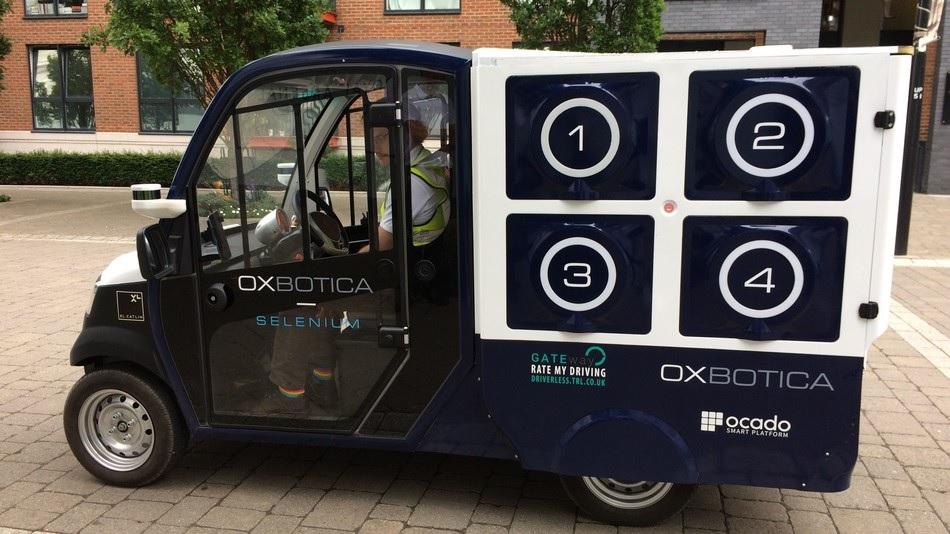 Furgonetas de auto-conducción entregan comestibles en Londres