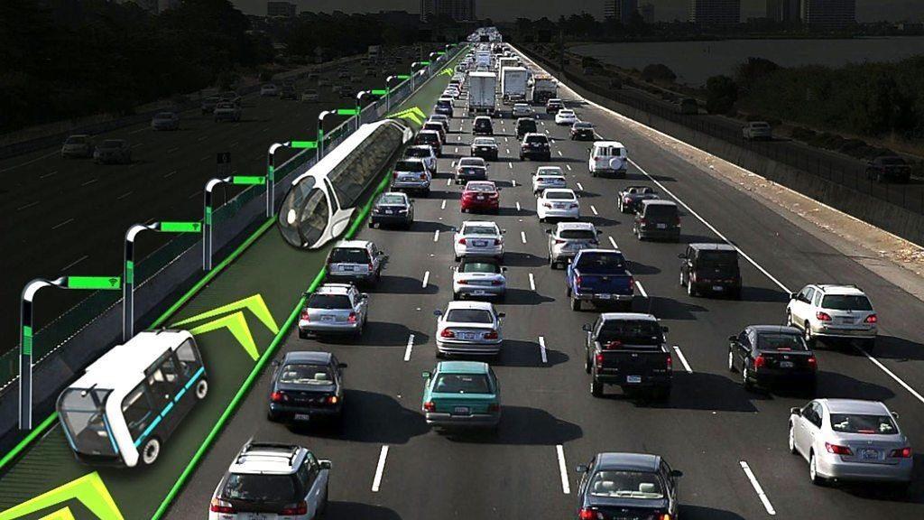 Un carril de alta velocidad exclusivo para carros autónomos como solución para aliviar el tráfico de las ciudades