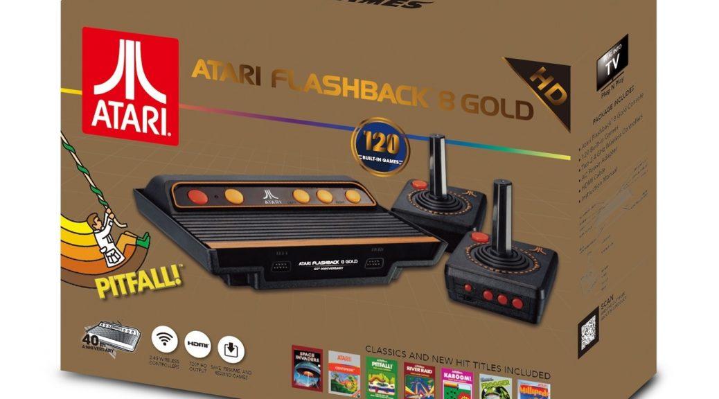 Atari Flashback 8 Gold, retro, pero con HDMI, mandos inalámbricos y 120 juegos