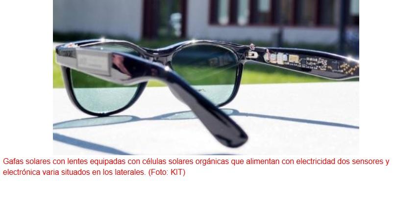 Crean unas gafas que generan energía solar