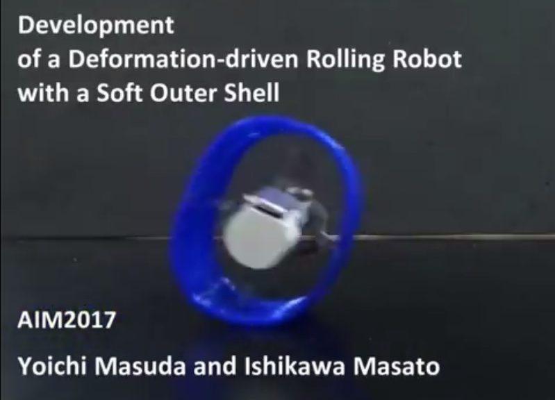 Crean robot blando, rodante y que puede deformarse