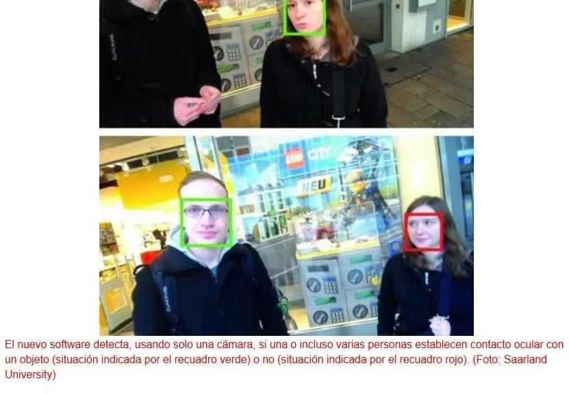 Nuevo software para permitir a dispositivos artificiales detectar si alguien los está mirando