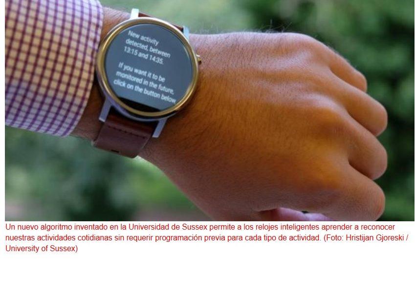 Nuevo algoritmo que permite a relojes inteligentes hacer un seguimiento de toda la actividad física del usuario