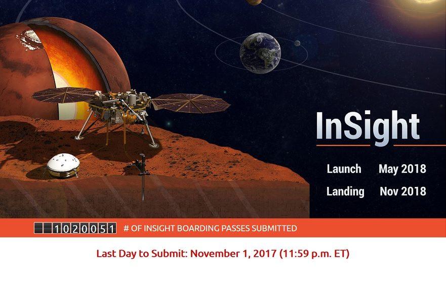 Envíe su nombre a Marte en un microchip