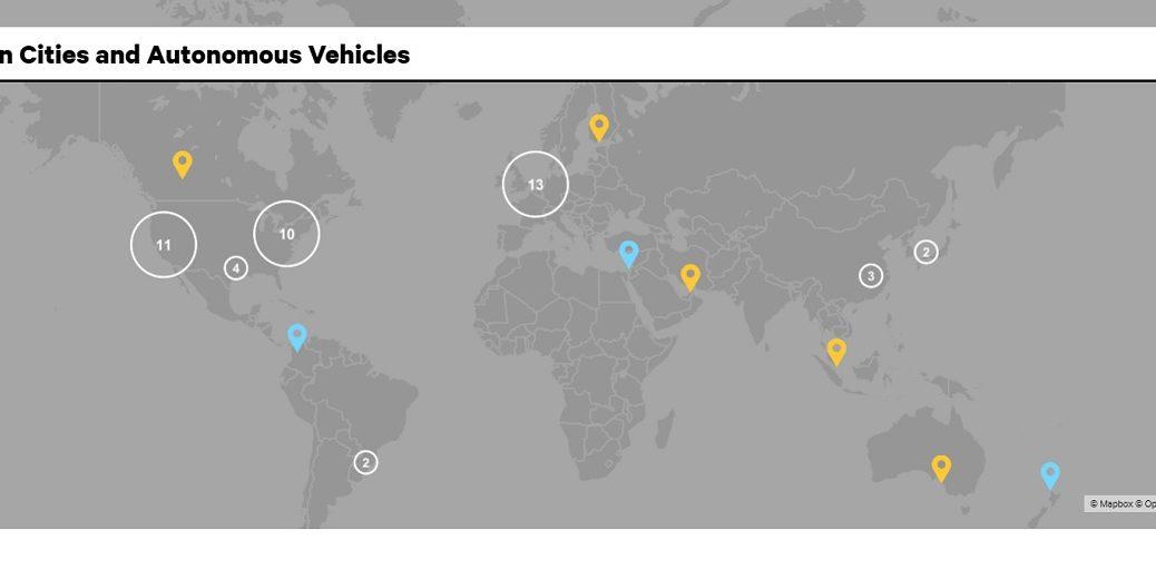 Mapa interactivo muestra dónde se están probando automóviles autodirigidos en el mundo