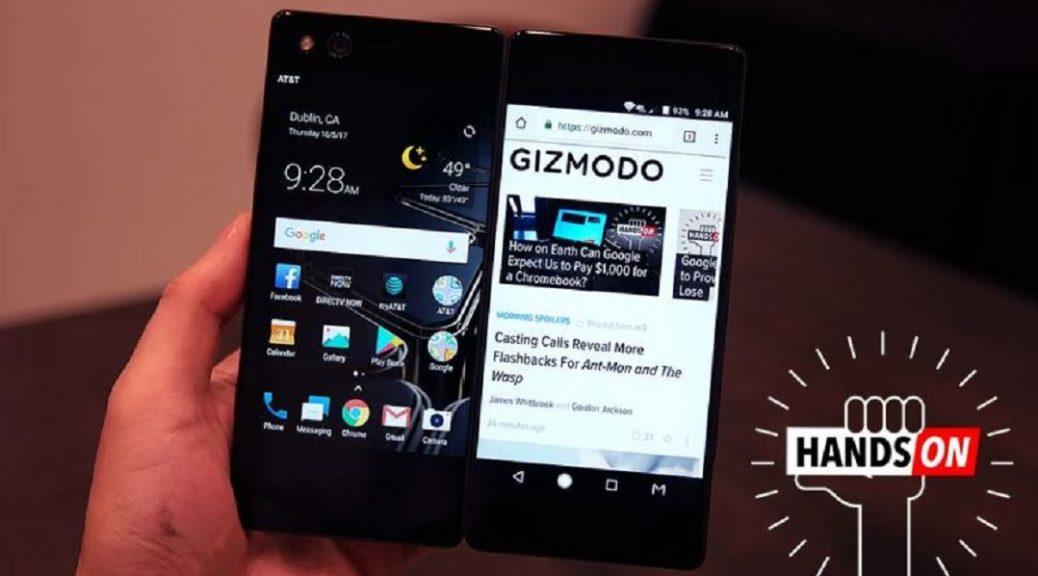 Presentan el smartphone ZTE Axon M plegable