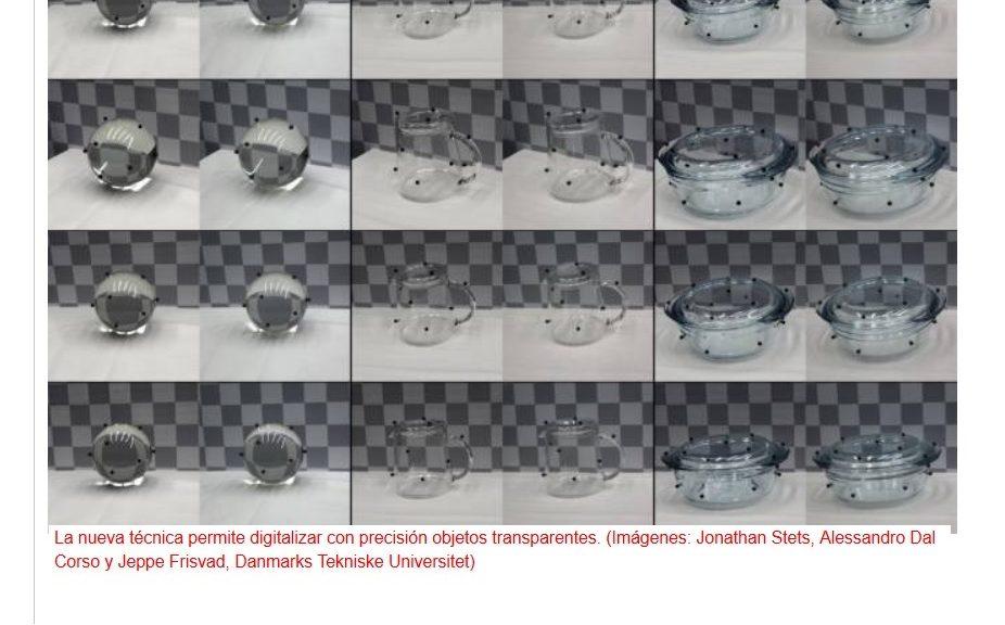 Nueva técnica para digitalizar con precisión objetos transparentes