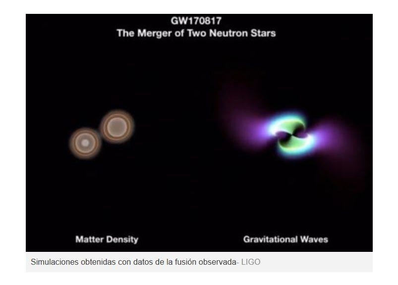 fusion de estrellas de neutrones