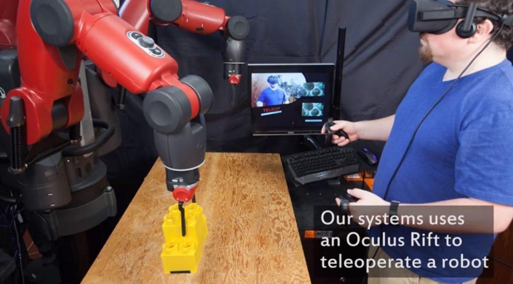 Prueban sistema de realidad virtual para controlar robots desde cabinas virtuales